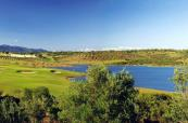 Lakes, and multiple trees add difficulty to the course at Alamos Golf