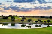 lakes and the sunset at Barcelo Montecastillo Golf