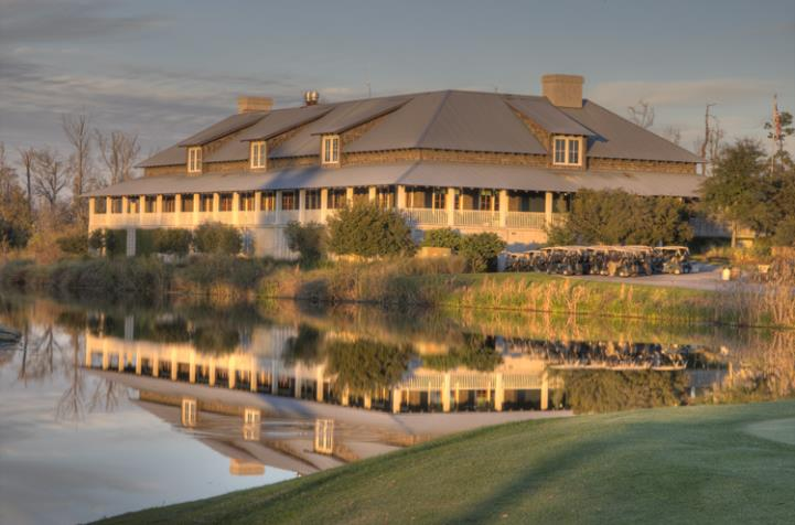Beautiful evening shot of Barefoot Clubhouse