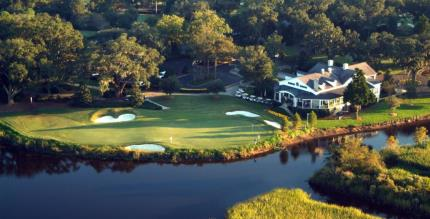 Aerial View of the 18th Hole and Club House