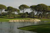 Water feature on the Faldo Course in Turkey