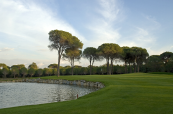 Cornelia Golf Club in Turkey and Faldo Course water along fairway