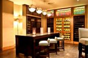A huge selecion of wine available at Five Lakes