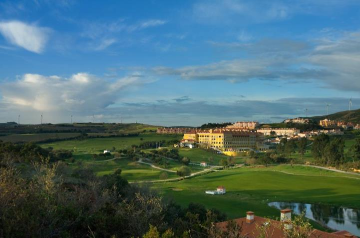 Hotel overview with golf course at Dolce Camporeal Lisbon