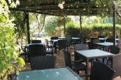 Outdoor seating at Dom Pedro Golf, Vilamoura