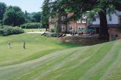 Playing down towards the green at Donnington Valley Hotel and Spa