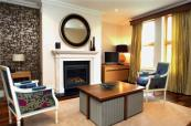 Stylish lounge and sitting room at Fota Island Resort in Ireland
