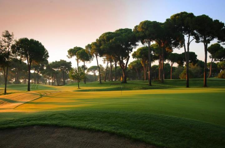 The 15th hole on the New Course at Gloria Golf Club in Turkey