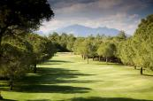 The Old Course at Gloria Golf Club in Turkey with stunning mountain backdrops