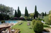 Swimming pool overview at Golf Hotel de Valescure
