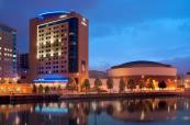 The beautiful Hilton Belfast located next to the river