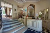 Reception area at Hotel Clery