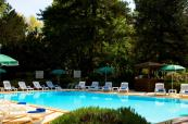 Outdoor swimming pool at Hotel du Parc