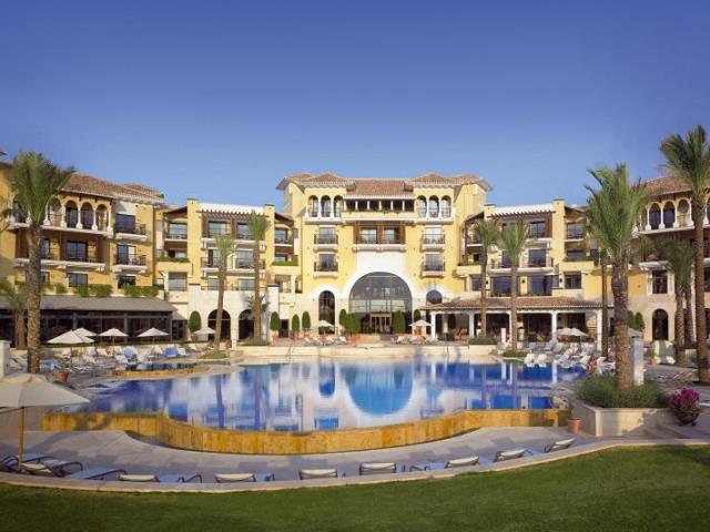 Impressive hotel exterior at Intercontinental Mar Menor Hotel, Murcia, Spain.