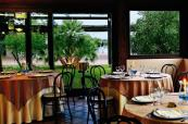 Lovely dining area with stunning views of Is Molas Golf Resort