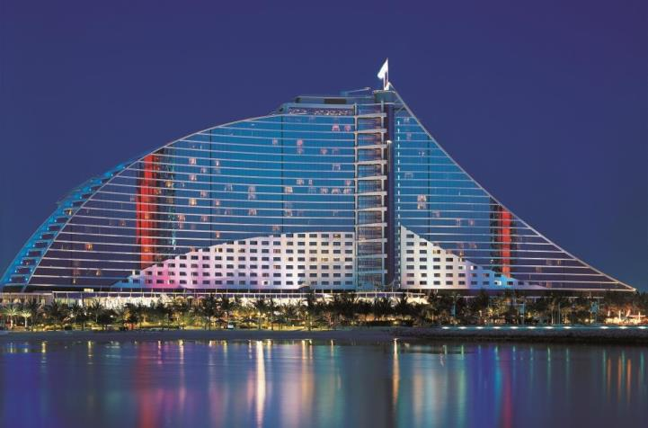 Jumeirah Beach Hotel Exterior Night View
