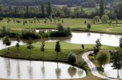 Stunning island green on Le Fonti Golf Course, Italy