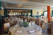 Lovely restaurant at Le Robinie Golf & Resort