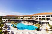 Monte da Quinta Resort outside swimming pool with surronding loungers