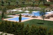 Views of the outdoor pool areas at Monte Rei Villas