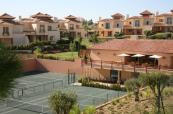 View of the tennis courts from the veranda at Monte Rei Villas