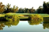 Stunning approach shot over the lakes at Penina Hotel and Golf Resort