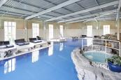 Leisure pool and hot tub at Slaley Hall spa