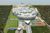 Aerial view of site of Sueno Hotels Deluxe Belek
