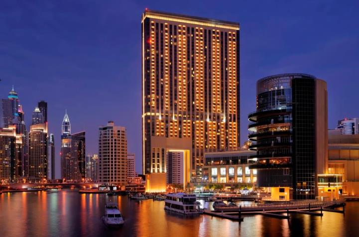 Exterior of the Address Dubai Marina