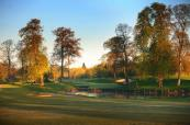 The world famous 10th hole on the Brabazon Course at The Belfry.