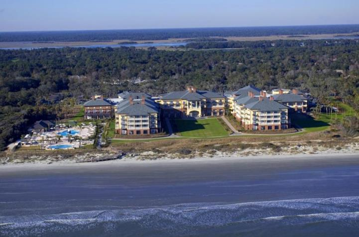 Beautiful aerial image of The Sanctuary at Kiawah Island Golf Resort