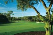 Tight dogleg on this beautiful Kiawah Island Golf Course, South Carolina