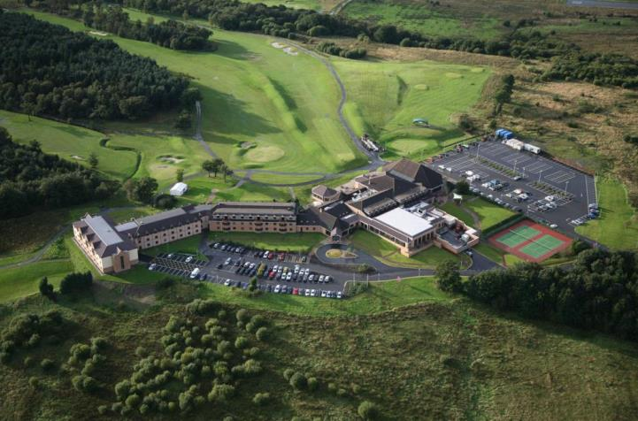 Aerial view of The Westerwood Hotel and Golf Resort